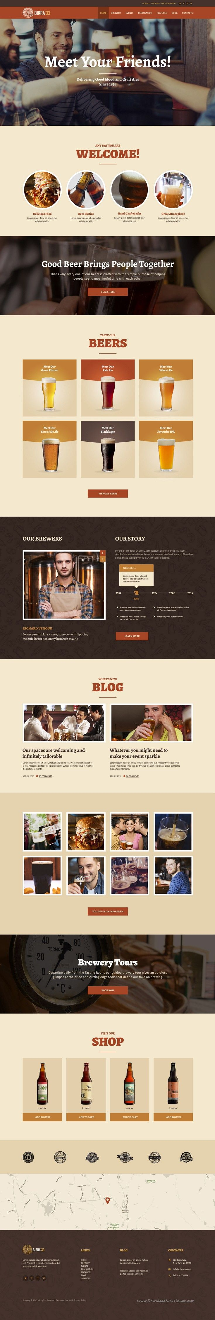 Birra33 is modern and clean WordPress theme created for your #Brewery, #Brewpub, Craft Beer Shop, #Beer Garden & Festival #website. Download Now!
