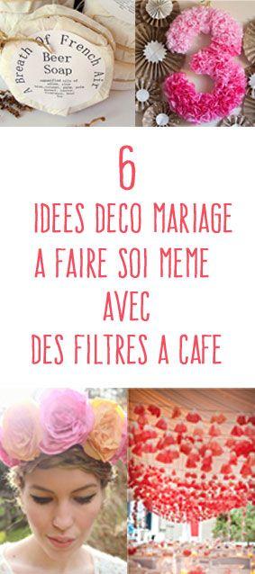 Découvrez comment utiliser des filtres à café pour fabriquer des fleurs, des guirlandes et des jolis éléments de déco pour votre mariage.