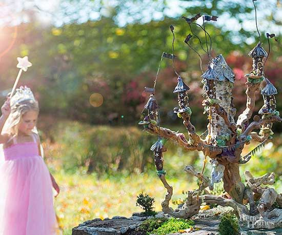Gathering gnarly grape wood, lotus pods, and birch bark for this miniature creation at the Florence Griswold Museum in Old Lyme, Connecticut, Rapunzel's towers took creator David D. J. Rau much searching