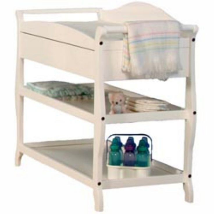 gift stork craft aspen changing table with drawer white
