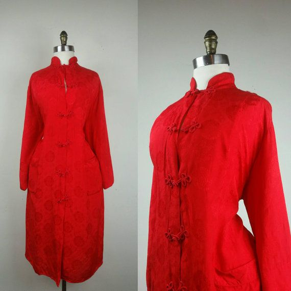40s Japanese Robe with Pockets by sheandhervintage on Etsy