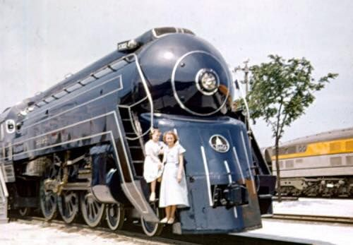 Baltimore and Ohio president class p-7d 5304 at the Chicago fair 1948