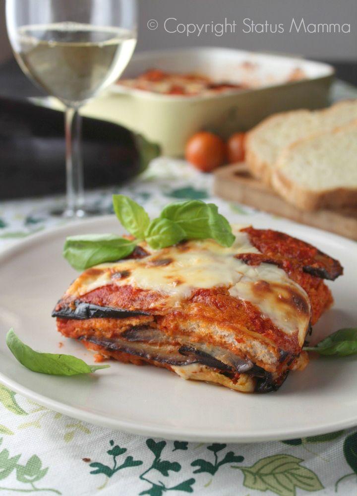 Parmigiana di pane e melanzane ricetta facile gustosa riciclo con pane raffermo e verdure Statusmamma Gialloblogs foto video tutorial