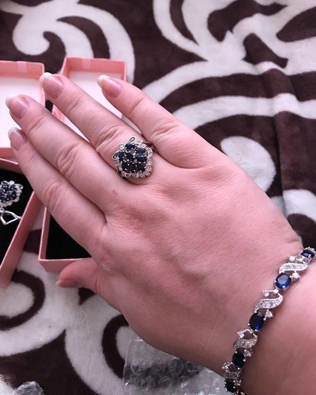 2548ee2797058 فضة 925 الزركون الأزرق مجموعات مجوهرات النساء مجوهرات الزفاف مع الأحجار  الكريمة أقراط قلائد سوار خاتم نوع المعدن  فضة نوع مجموعة …