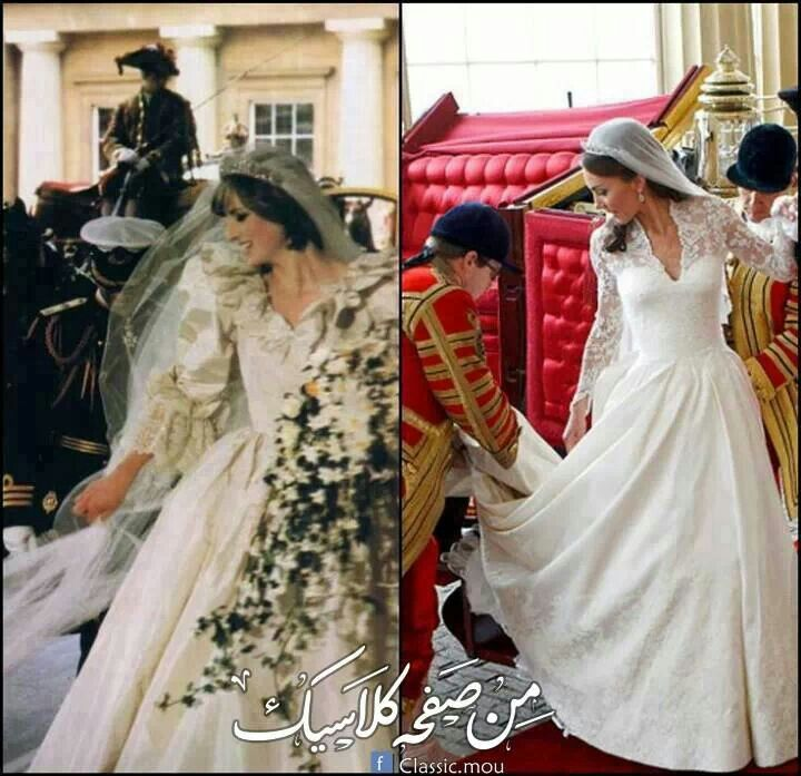 Princess Diana and Kate Middleton in their wedding day ♥_♥