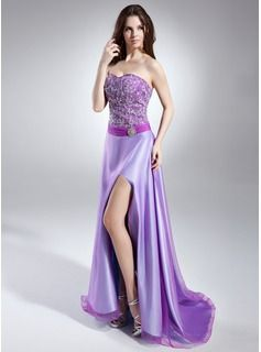 Prom Dresses - $172.99 - A-Line/Princess Sweetheart Sweep Train Organza Satin Prom Dress With Beading Sequins Split Front  http://www.dressfirst.com/A-Line-Princess-Sweetheart-Sweep-Train-Organza-Satin-Prom-Dress-With-Beading-Sequins-Split-Front-018015646-g15646