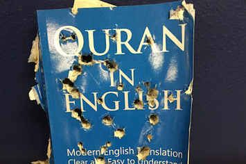 """Bullet-Pierced Qur'an Left Outside Islamic Store In California Investigated By Police"" What is wrong with this world"