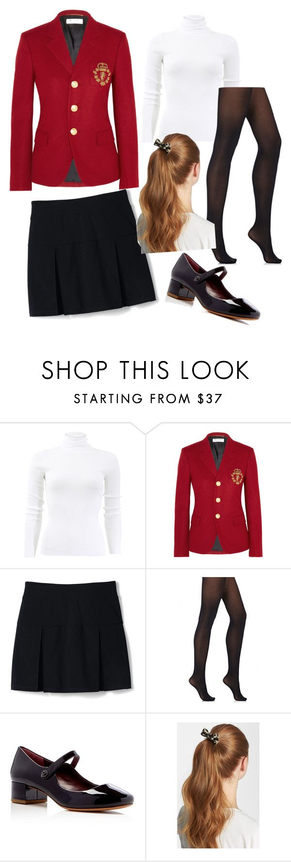 """""""school"""" by dw-fashion-unlimited ❤ liked on Polyvore featuring Michael Kors, Yves Saint Laurent, Lands' End, Wolford, Marc Jacobs and L. Erickson"""