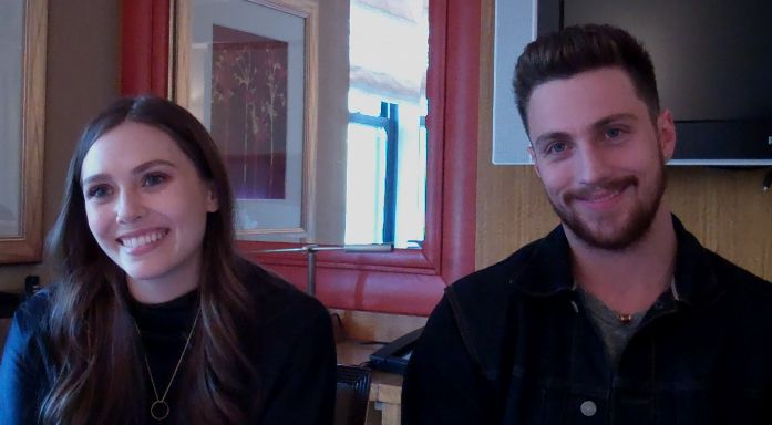 AVENGERS: AGE OF ULTRON Interview Elizabeth Olsen Aaron Taylor-Johnson
