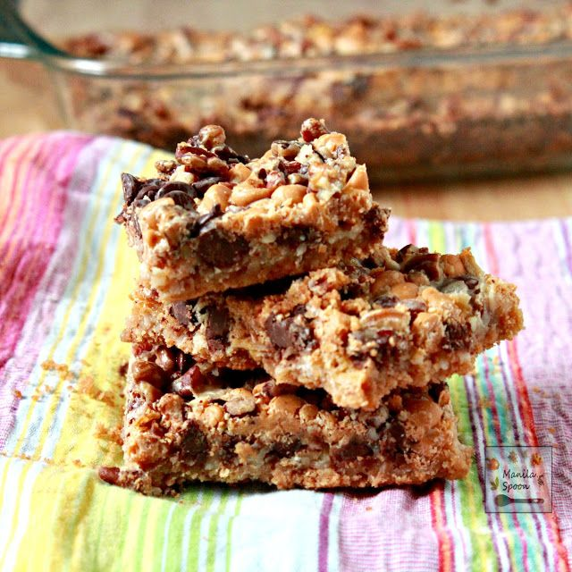 These Hello Dolly cookie bars are truly so delicious and super easy to make!! 9x13 With layers of graham crackers, coconut, pecans, butterscotch and choco chips - your tastebuds are in for a yummy treat!