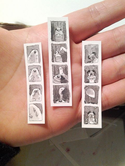 teeny tiny insect photobooth strips by Laura Park