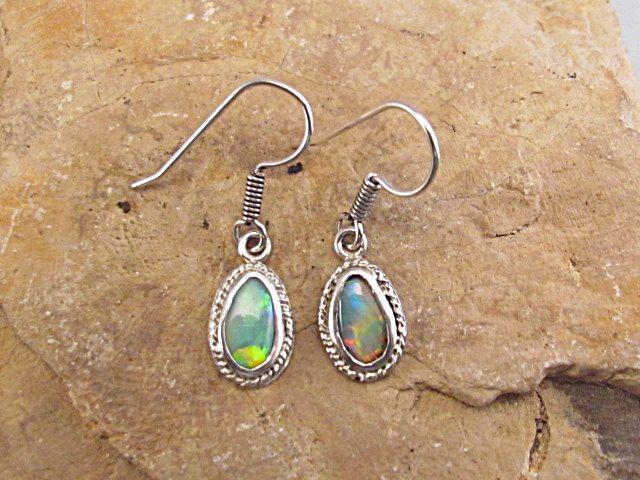 Rustic opal earrings