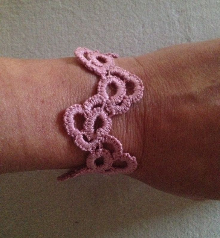 Tatted bracelet by BurgdorffDesign on Etsy https://www.etsy.com/listing/248914100/tatted-bracelet