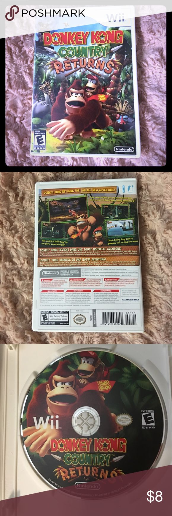 Donkey Kong Country Returns Wii game: Donkey Kong Country Returns. Rarely used. Nintendo Other