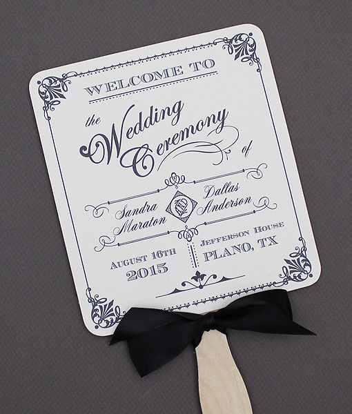 Diy ornate vintage paddle fan wedding program template add your text and print at home for Wedding program fans templates free