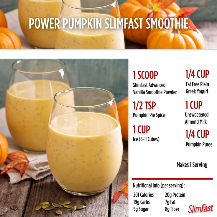 Happy First Day of Fall! Time to break out the pumpkins! Try this Power Pumpkin Smoothie recipe.  SlimFast   Shake   Recipe