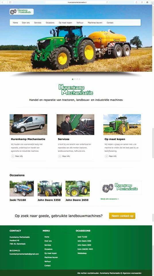 Hurenkamp Mechanisatie werkt nu met een frisse WordPress website ontwikkeld door Logisch! Bekijk het resultaat op: www.hurenkampmechanisatie.nl