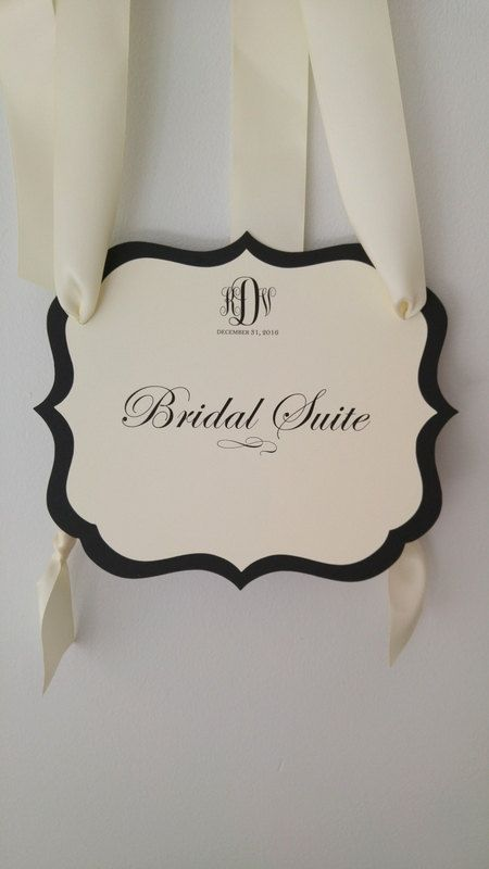 Hanging Bridal Suite Sign Keep Out Unwelcome Guests to by wedology