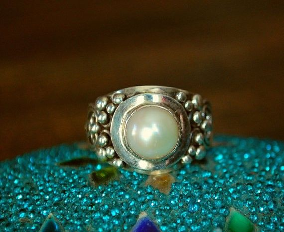 Ethnic Pearl Ring Hippie Wedding Ring   LoveItSoMuch com85 best Rings images on Pinterest   Leaf ring  Jewelry rings and Vines. Hippie Wedding Rings. Home Design Ideas