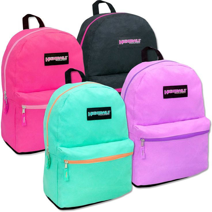 """19"""" Wholesale Backpack - 4 Assorted Colors - 24 Units"""