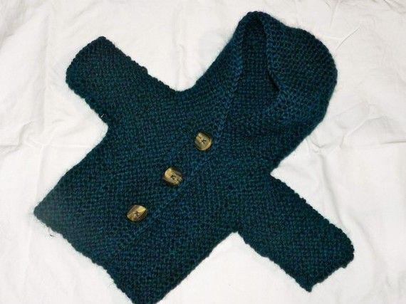 Custom Hand Knit Baby Sweater: $35.