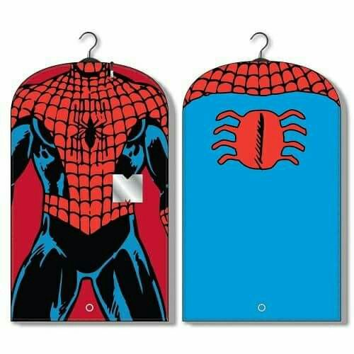"🚨Sale🚨 "" Spider Man Men's Garment Bag""  This protective garment bag with an all-over print of Spider Man keeps your suit and other clothing dirt and dust free while hanging in the closet or on the go💰16.95💰"