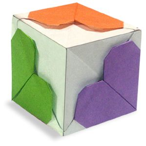 Origami Heart Cube2 Instruction CubeKids