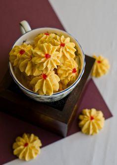 Samperit / Malay Custard Cookies Recipe (From My Lemony Kitchen), made with custard powder