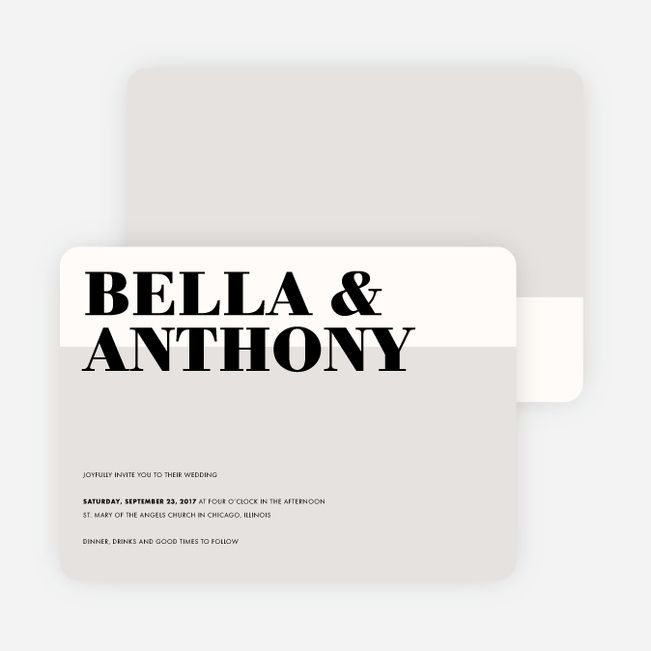 Boldly Typographic Wedding Invitations from Paper Culture