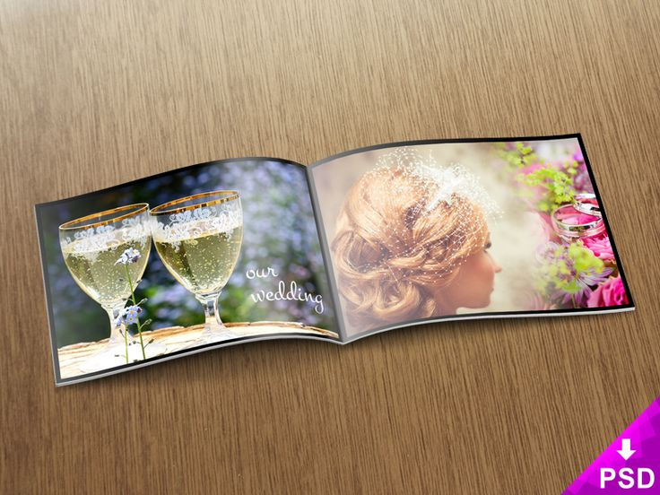 Wedding Photo Album Mockup