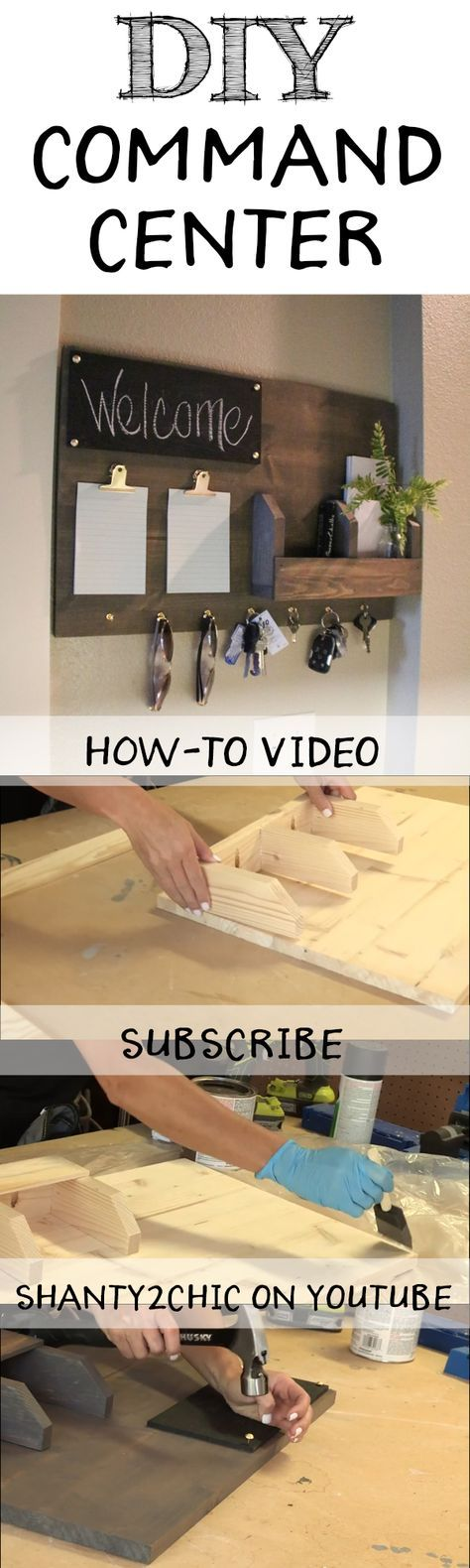 Perfect Way To Organize All Of Your Junk! Build This DIY Command Center  With This