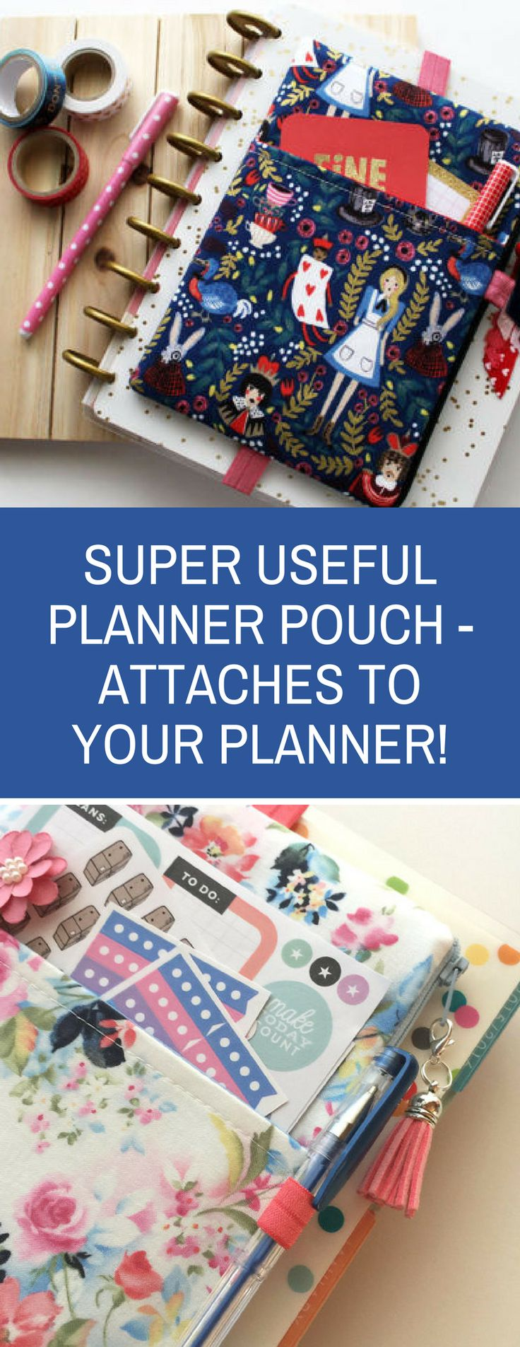 These planner pouches are the perfect way to keep your favourite pens, stencils and washi tape right on your planner! I love mine! #ad #bulletjournal #planner #stationery