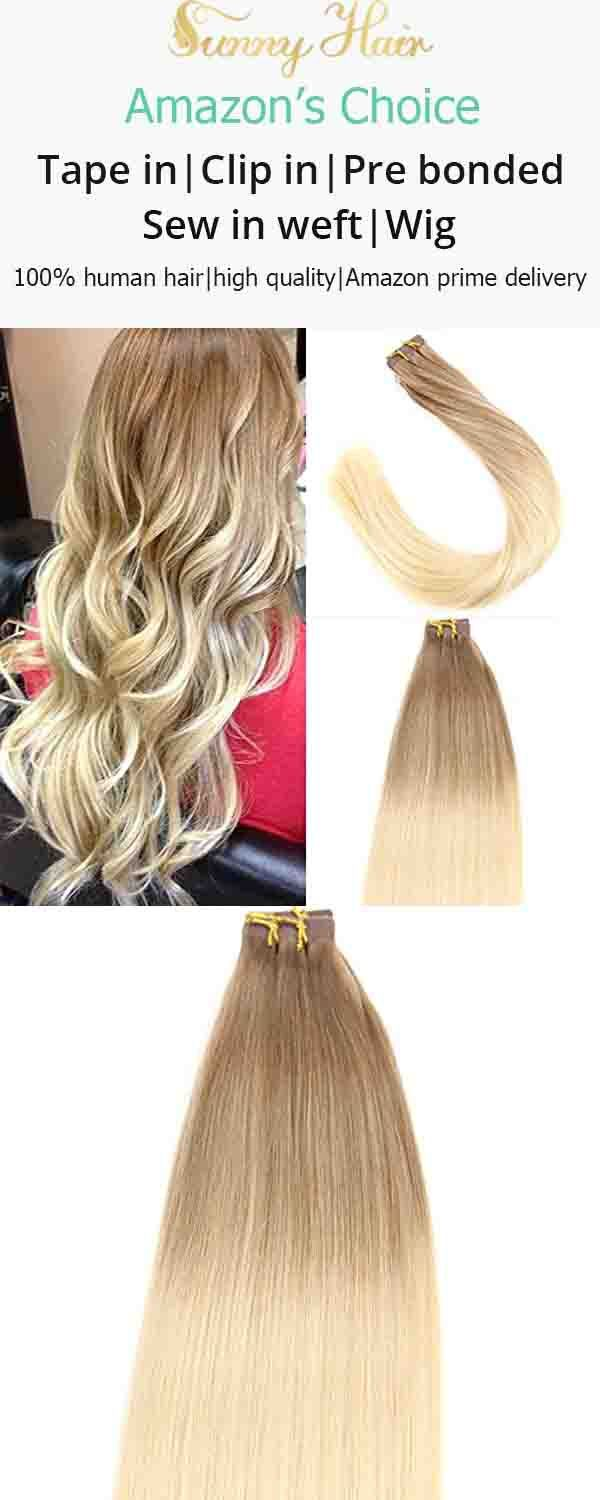Sunny Tape In Hair Extensions Human Hair Chestnut Brown 6 Ombre