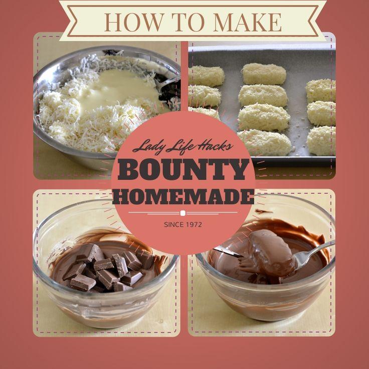 Bounty Chocolate Recipe | www.ladylifehacks.com