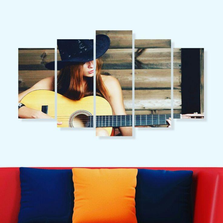 100x60 cm 5 parça dekoratif tablo 40,TL 🚚 Kargo alıcıya aittir 💟3 adet ve üstü kargo ücretsizdir 👍Kapıda ödeme KİŞİYE ÖZEL TABLO YAPIYORUZ 50₺ 📝Sipariş için Dm veya WhatsApp'tan 0542 398 07 51 #duvarsüsü #tablo #tasarim #hediye #hediyelik #sanat #kadin #ev #alışveriş #pano #gitar