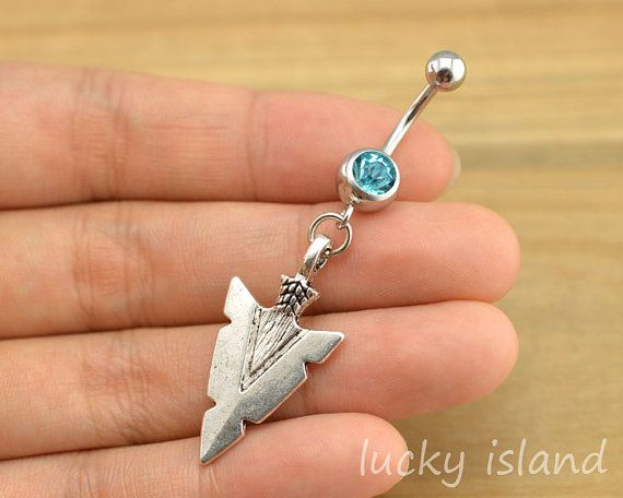 belly ring,belly button jewelry,arrow head belly button rings,arrow navel ring,piercing belly ring,friendship piercing bellyring,bff gift on Etsy, $4.99