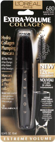 L`Oreal Paris Extra-Volume Collagen Mascara, Blackest Black, 0.34-Fluid Ounce $6.54