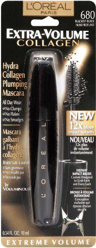 L`Oreal Paris Extra-Volume Collagen Mascara, Blackest Black, 0.34-Fluid Ounce $6.54