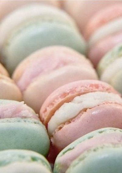 Macarons in Easter Color Hues - Rose Quartz & Serenity