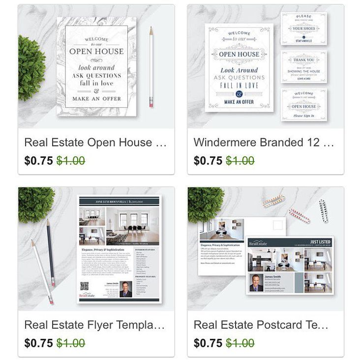 Etsy Sale. Real Estate Templates, Real Estate Open House Signs, Real Estate Postcards. Realtor Marketing. Realtor Prospecting. If you ever wanted to test out some templates, this would be the great time. (Sale ends September 4)