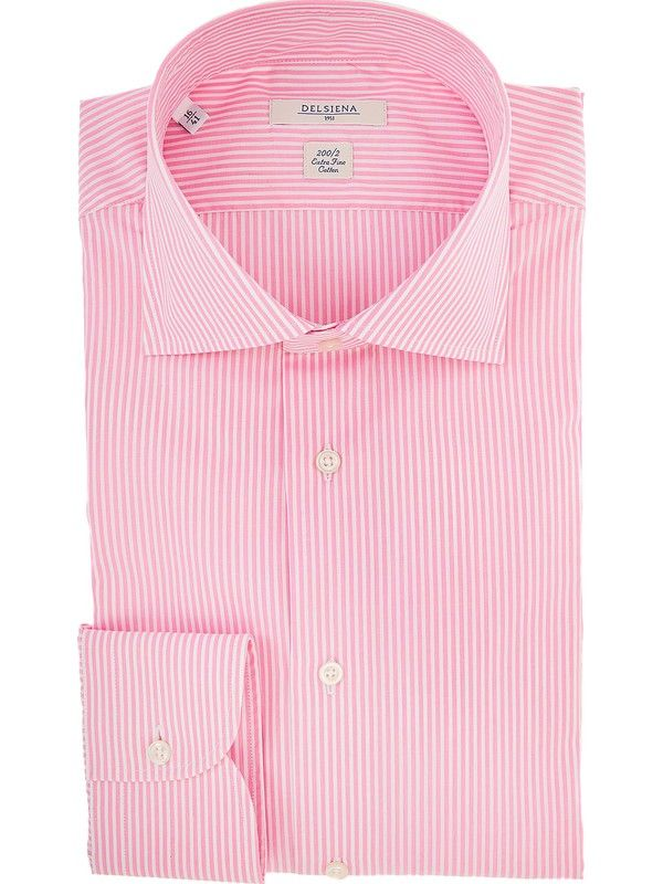 Mens Pink Striped Shirt