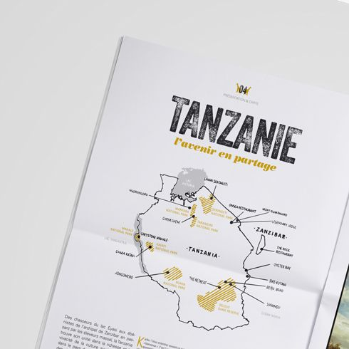 """Création du troisième numéro dujournal d'Horizons Nouveaux, créateur de voyages Suisse, qui cisèle ses itinéraires à l'exacte mesure de vos rêves, alliant luxe, originalité et authenticité. Nous avons choisi comme ligne directrice le """"carnet de voyage"""", avec des cartes """"fait main"""" et des images type Polaroid.   www.la-mine.com #graphic #design #graphisme #édition #editorial #catalog #journal #newspaper #voyage #travel #photographie #photography #print #luxury #luxe #grid #africa #afrique…"""