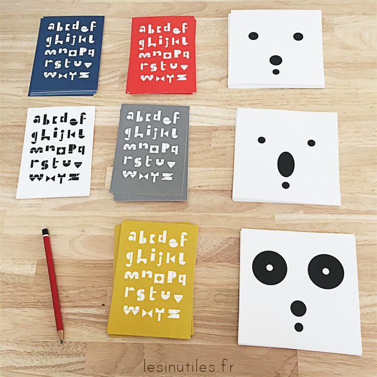 Il y a de nouvelles cartes postales sur www.lesinutiles.fr ! Je crois que vous allez adorer le Panda et ses copains ♡♡♡ Carte postales snug.bears et snug abc card - ours polaire, ours blanc, koala, panda, snug studio, alphabet, abécédaire - Photo ©Lesinutiles.fr
