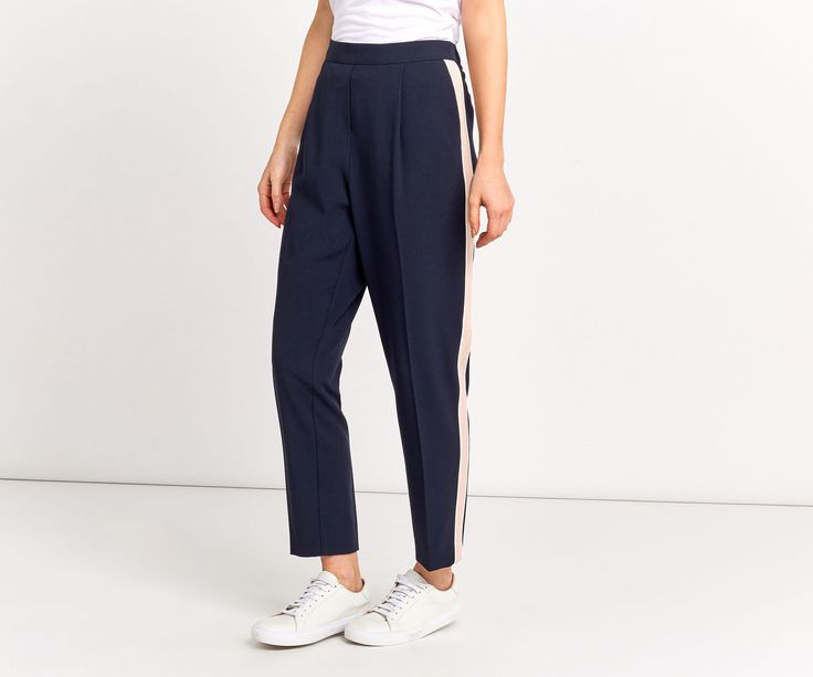 Oasis, SOFT SPORTY TROUSERS Navy