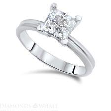 Princess Cut Diamond Ring 14K White Gold VS1/D 1.4 CT Engagement Enhanced