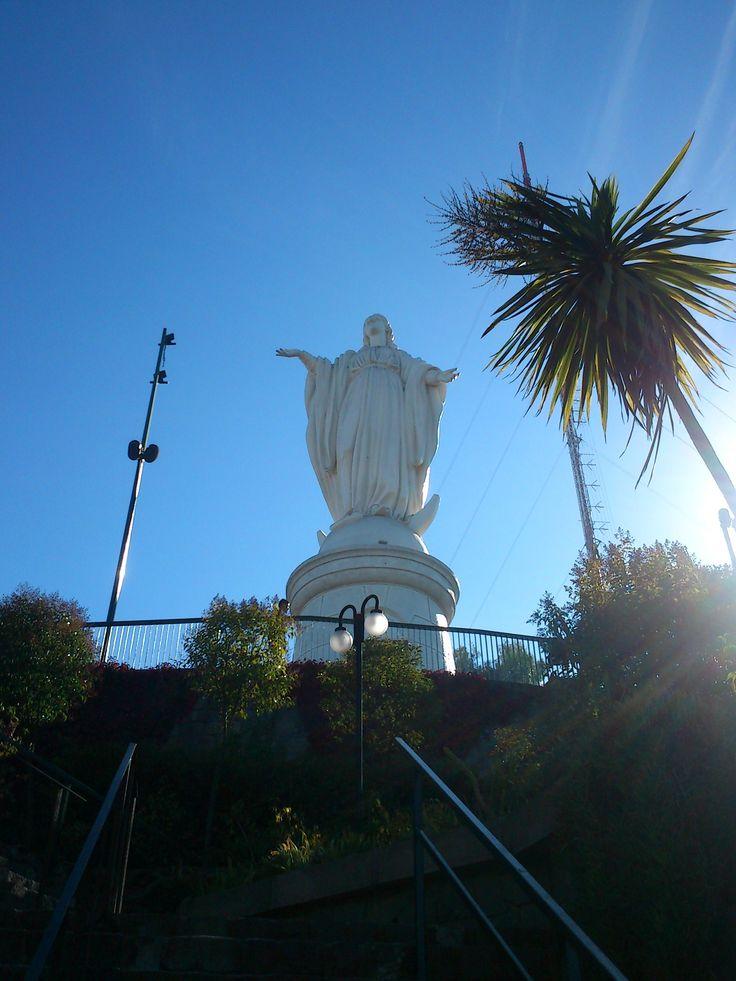 Virgen del Cerro San Cristobal , Santiago Chile