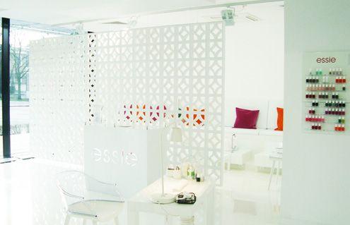 www.warsawnailbar.pl Warsaw Nail Bar Essie interior design 2014 neon