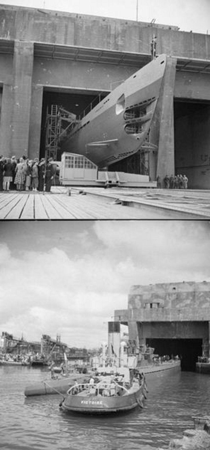 Lorient U-Boat Base: 6 June 1946, U123 becomes... French