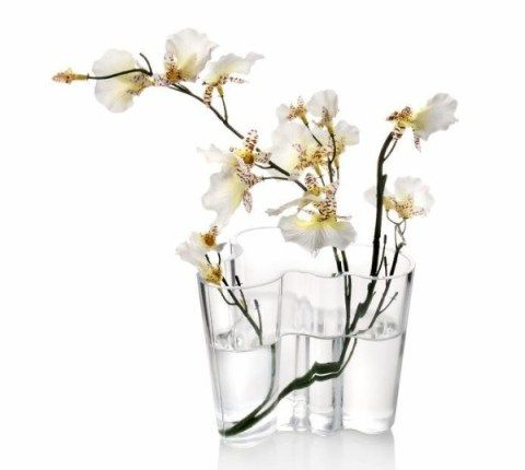 Aalto Vase Small with orchids