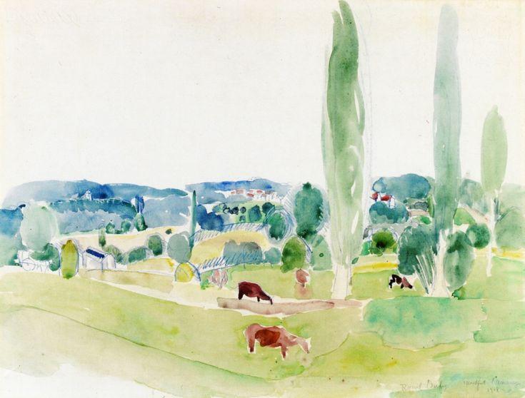 RAOUL DUFY landscape-of-montfort-l-amaury-1918